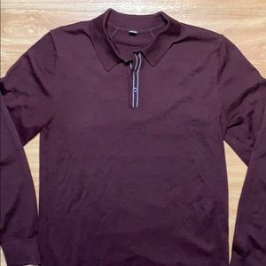 Lululemon Red Polo Small Long Sleeve